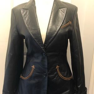 Scully Western Blazer Women's Leather Size Med M
